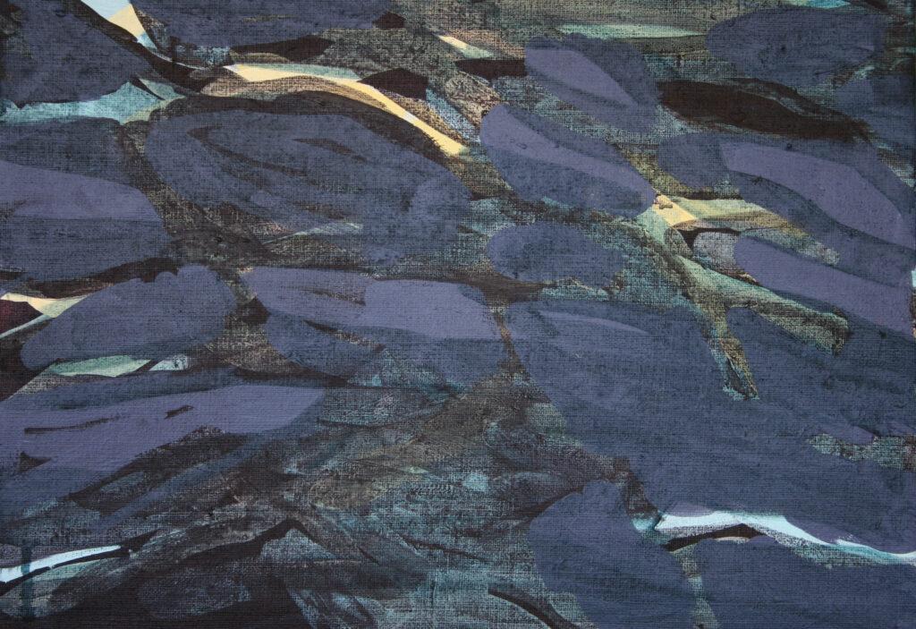 Abstrakt målning i blått